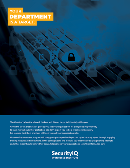 Posters: Security Incident Reporting - Don't Be a Target